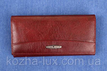 Женский женский кожаный кошелек Kochi бордовый 807 DR, фото 2
