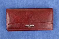 Женский женский кожаный кошелек Kochi темно бордовый 807 DR
