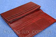 Женский женский кожаный кошелек Kochi темно бордовый 807 DR, фото 3