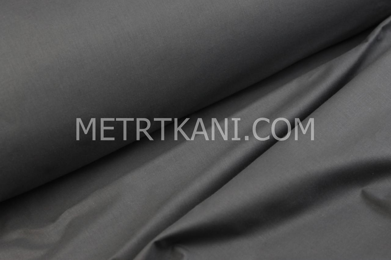 Тканина для постільної білизни з ранфорс графітового кольору Туреччина 240 см № WH-0074-2