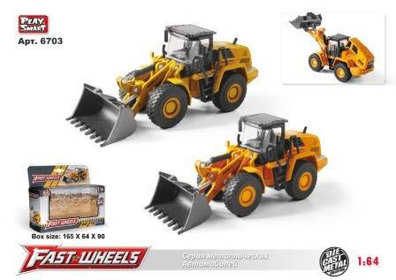 Трактор PLAY SMART FAST WHEELS з ковшем, металевий, 6703, фото 2