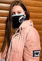 Детская многоразовая маска с смайлом