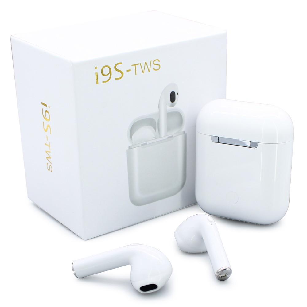 Беспроводные наушники TWS i9S Bluetooth кейс с поддержкой всех смартфонов на любой операционной системе