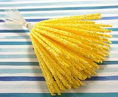 (≈90шт) Веточки с тычинками 15см Цена за пучок Цвет - Жёлтый