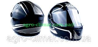 Шлем FXW HF-112 черный глянец с белым
