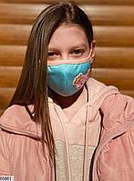 Детская многоразовая маска с шевроном