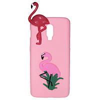 Чехол Cartoon 3D Case для OnePlus 6T Фламинго