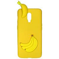 Чехол Cartoon 3D Case для OnePlus 6T Бананы