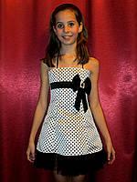 Красивое  платье в горох для девочки на торжество на прокат