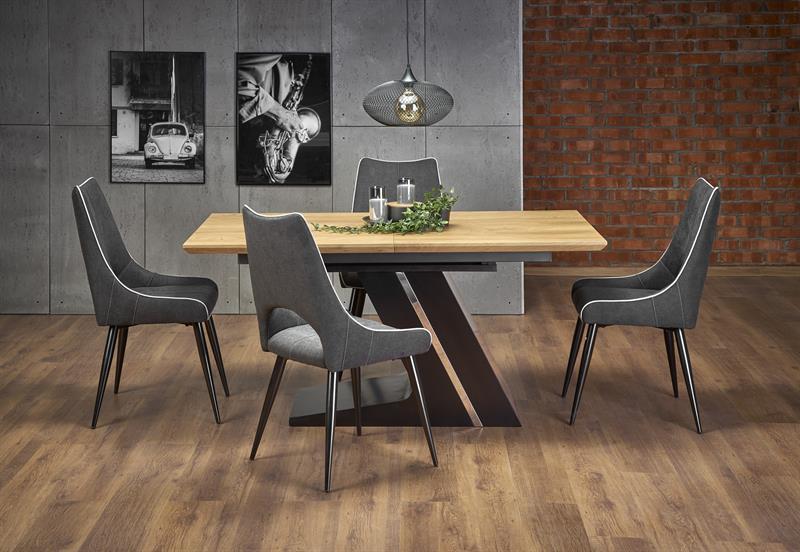 Стол раскладной FERGUSON цвет дуб/черный 160(220)x90 (Halmar)