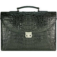 Портфель из кожи крокодила DCM39-S Black