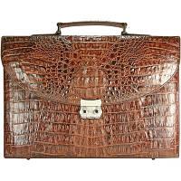 Портфель из кожи крокодила DCM39-S Brown