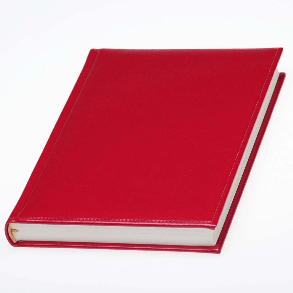 Ежедневник Небраска датированный, кремовый блок,красный от 10 шт
