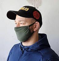 4шт. Многоразовая маска цвета хаки