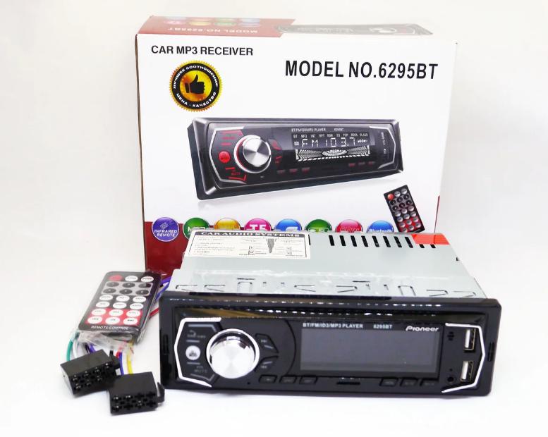 Автомобильные магнитолы | Автомагнитола 1DIN MP3 6295BT (1USB, 2USB-зарядка, TF card, bluetooth)