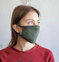 1шт. Многоразовая маска цвета хаки