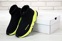 Кроссовки Balenciaga Speed Trainer Black Yellow (Баленсиага Спид черно-желтого цвета)