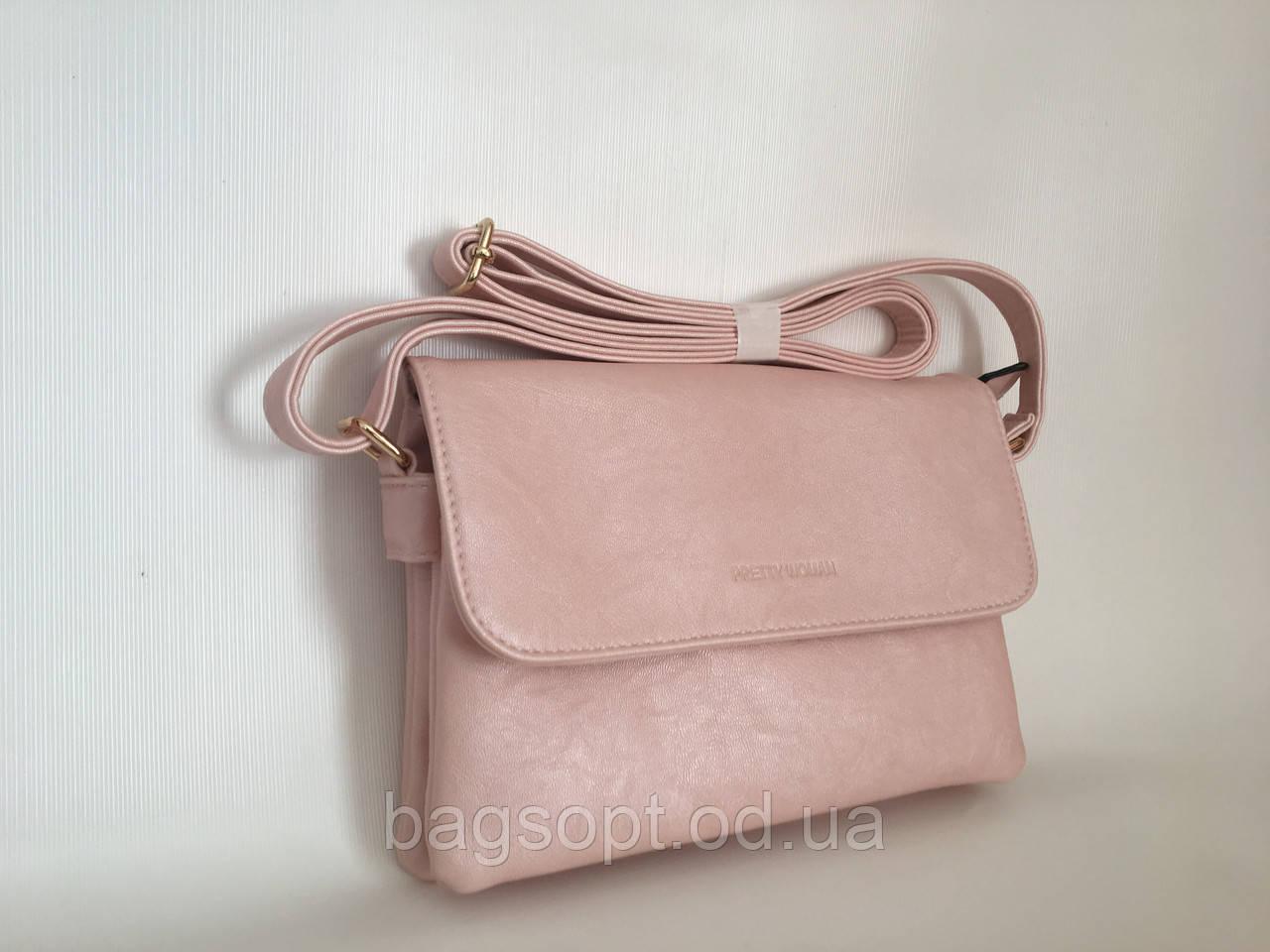 Летняя розовая маленькая сумка клатч через плечо Pretty Woman Одесса 7 км