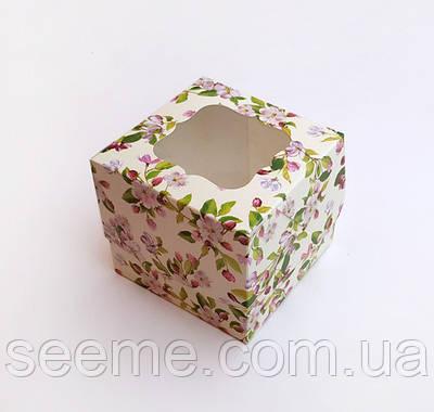 Коробка для 1 капкейка, 100x100x90 мм