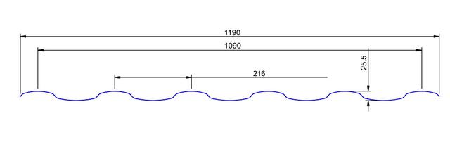 Розміри металочерепиці Венера