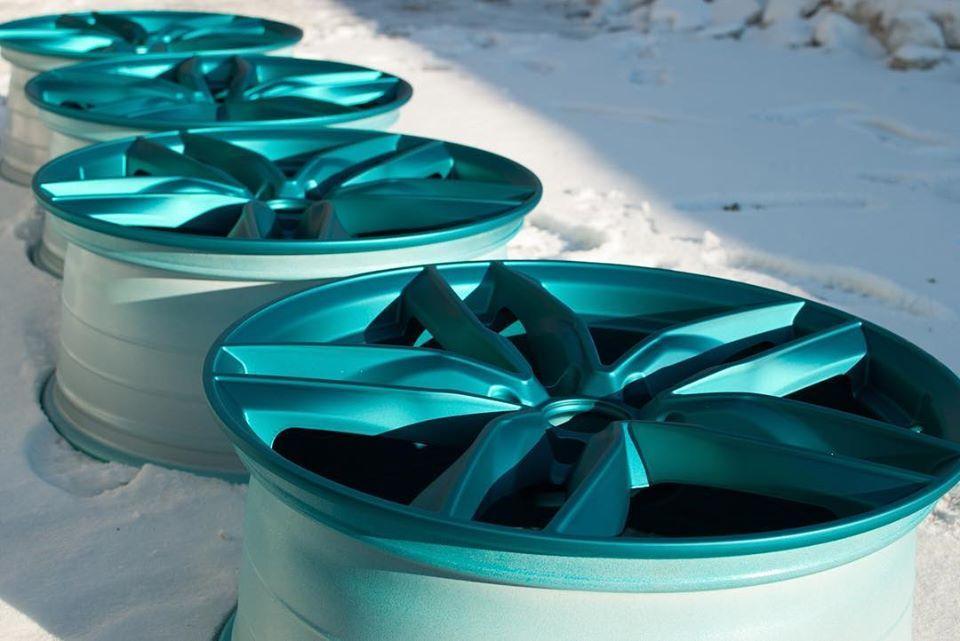 Порошковая покраска легкосплавных дисков R13