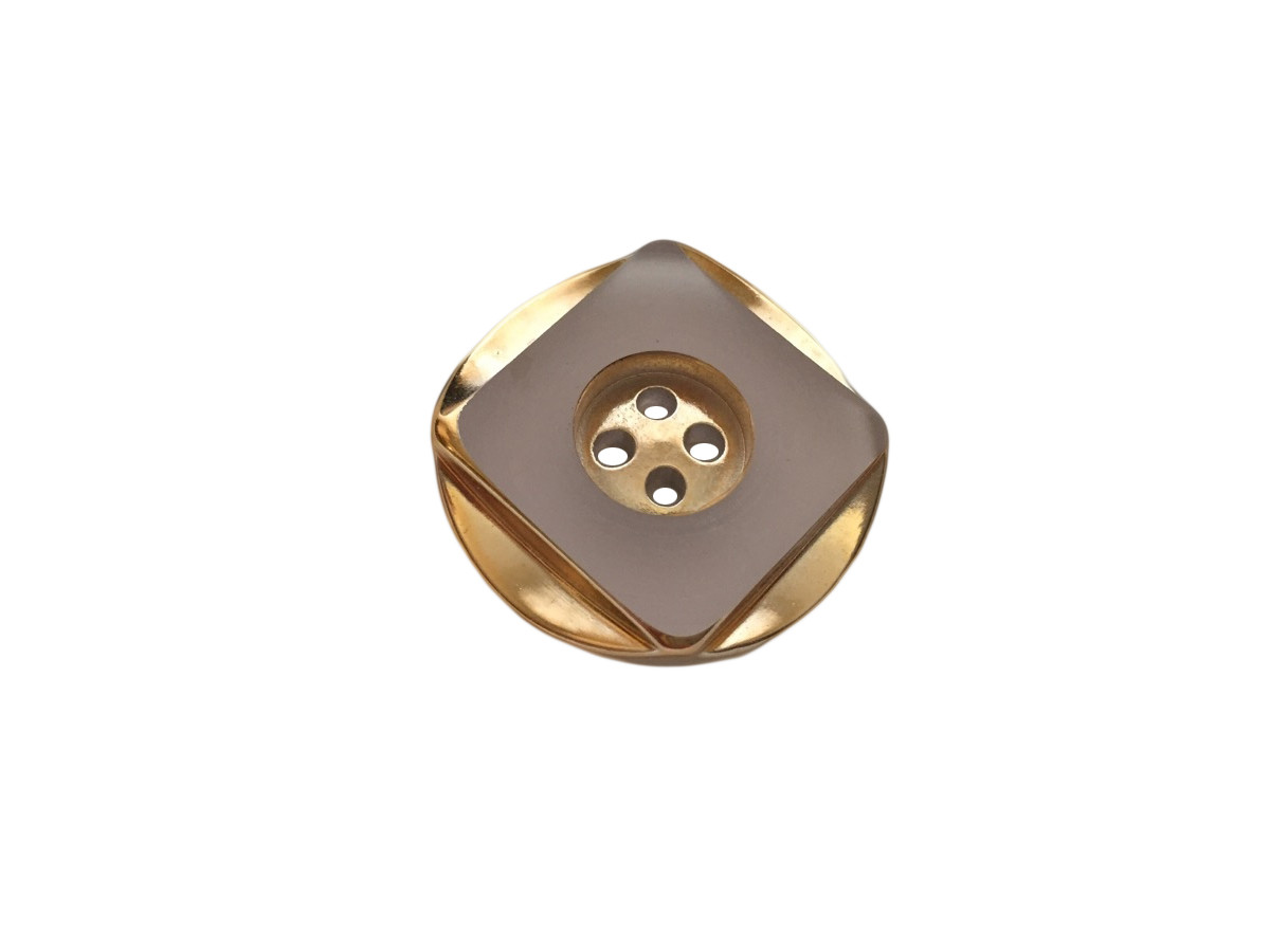Пуговицы ПЕ - 98 д-р 28мм прозрачный/золото