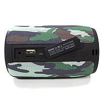 Колонка ZEALOT S32 Camouflage (Зеалот) Bass Bluetooth FM радио micro USB micro SD карта 3D 52mm speacker, фото 3