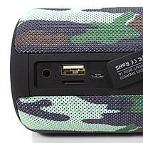 Колонка ZEALOT S32 Camouflage (Зеалот) Bass Bluetooth FM радио micro USB micro SD карта 3D 52mm speacker, фото 4
