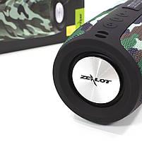 Колонка ZEALOT S32 Camouflage (Зеалот) Bass Bluetooth FM радио micro USB micro SD карта 3D 52mm speacker, фото 5
