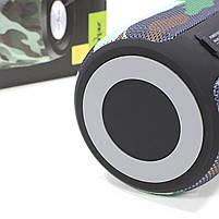 Колонка ZEALOT S32 Camouflage (Зеалот) Bass Bluetooth FM радио micro USB micro SD карта 3D 52mm speacker, фото 6