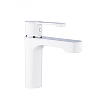 Змішувач для раковини з гайкою білий / хром Gappo Tomahawk G1002-8