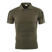 Тактическая футболка с коротким рукавом ESDY A416 Green XL мужская для военных полиции армейская