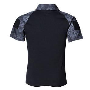 Тактична футболка з коротким рукавом Lesko A416 Black Typhon L чоловіча для військових поліції армійська, фото 2