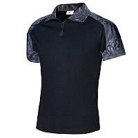 Тактическая футболка с коротким рукавом ESDY A416 Black Typhon M мужская для военных полиции армейская