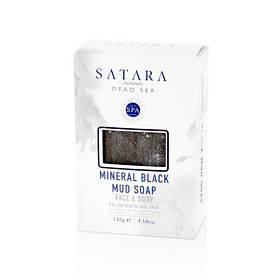 Минеральное черное грязевое мыло Satara Dead Sea Mineral Black Mud Soap 100 г (8098)