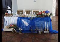 Оформление свадьбы, зала в морском стиле.