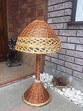 Торшер светильник из натуральной лозы 70 см
