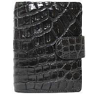 Визитница из кожи крокодила SS 36-1 B Black