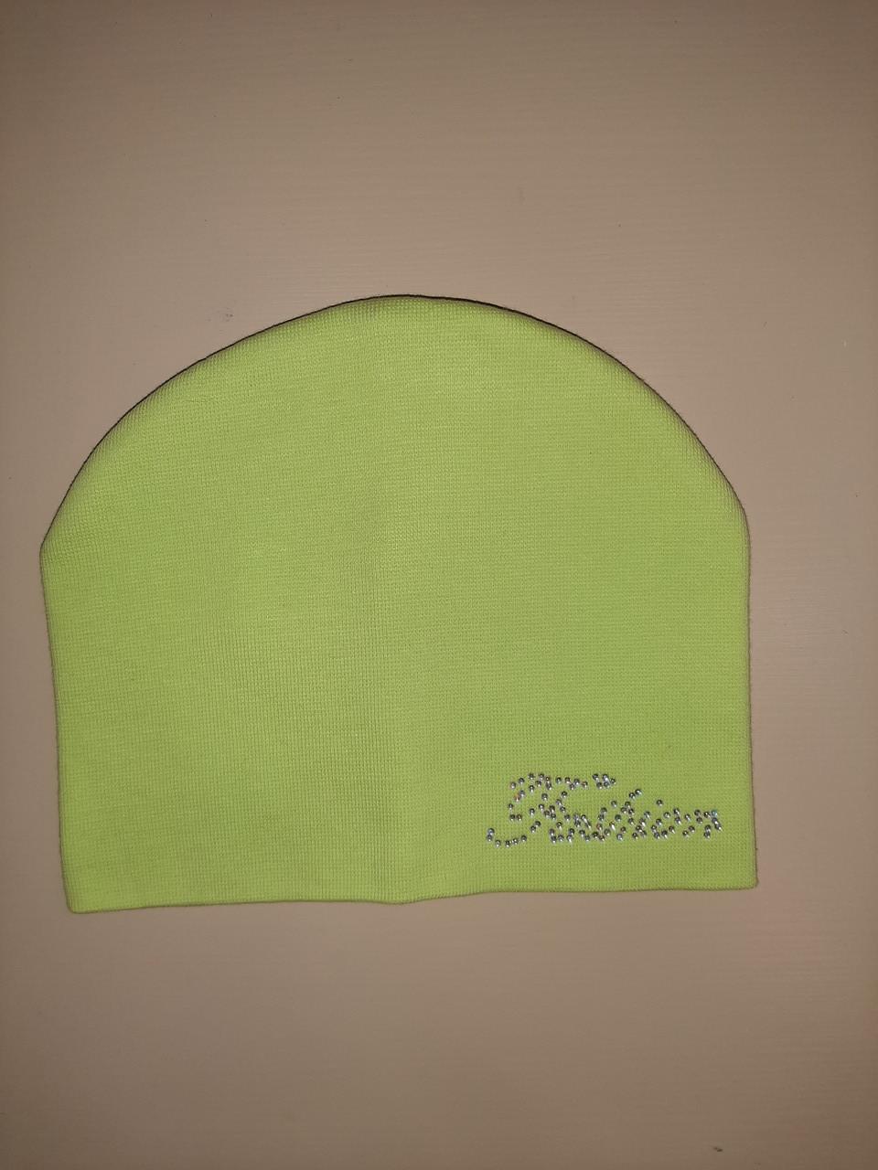 Демисезонная шапка для девочки р.40-42