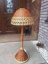 Торшер светильник из натуральной лозы 95 см