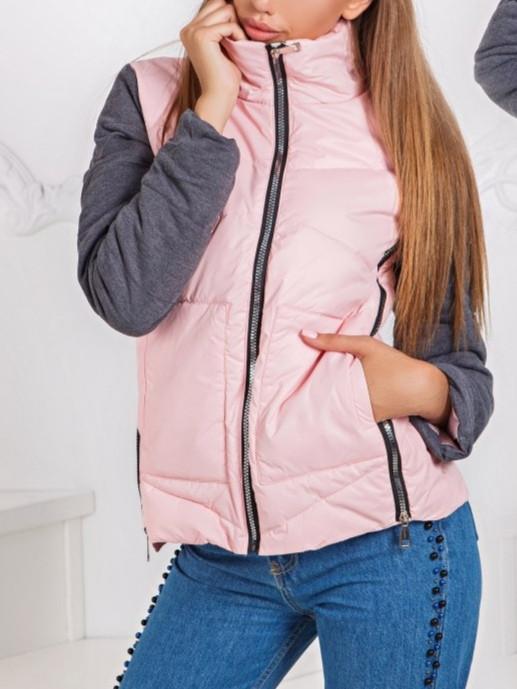 Стильная легкая весенняя стеганая женская короткая куртка.