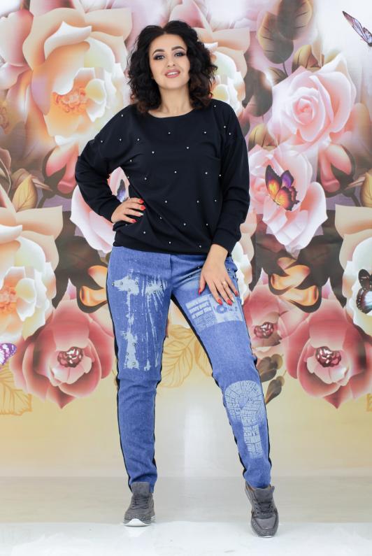Женский костюм с джинсовыми брюками, с 44-54 размер 52