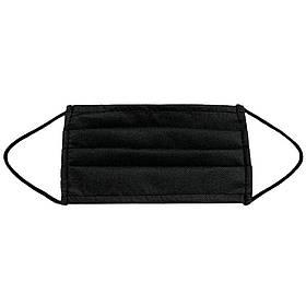 Маска медицинская для лица Спецмедпошив одноразовая двухслойная защитная черная, упаковка 30 шт SKL46-238802