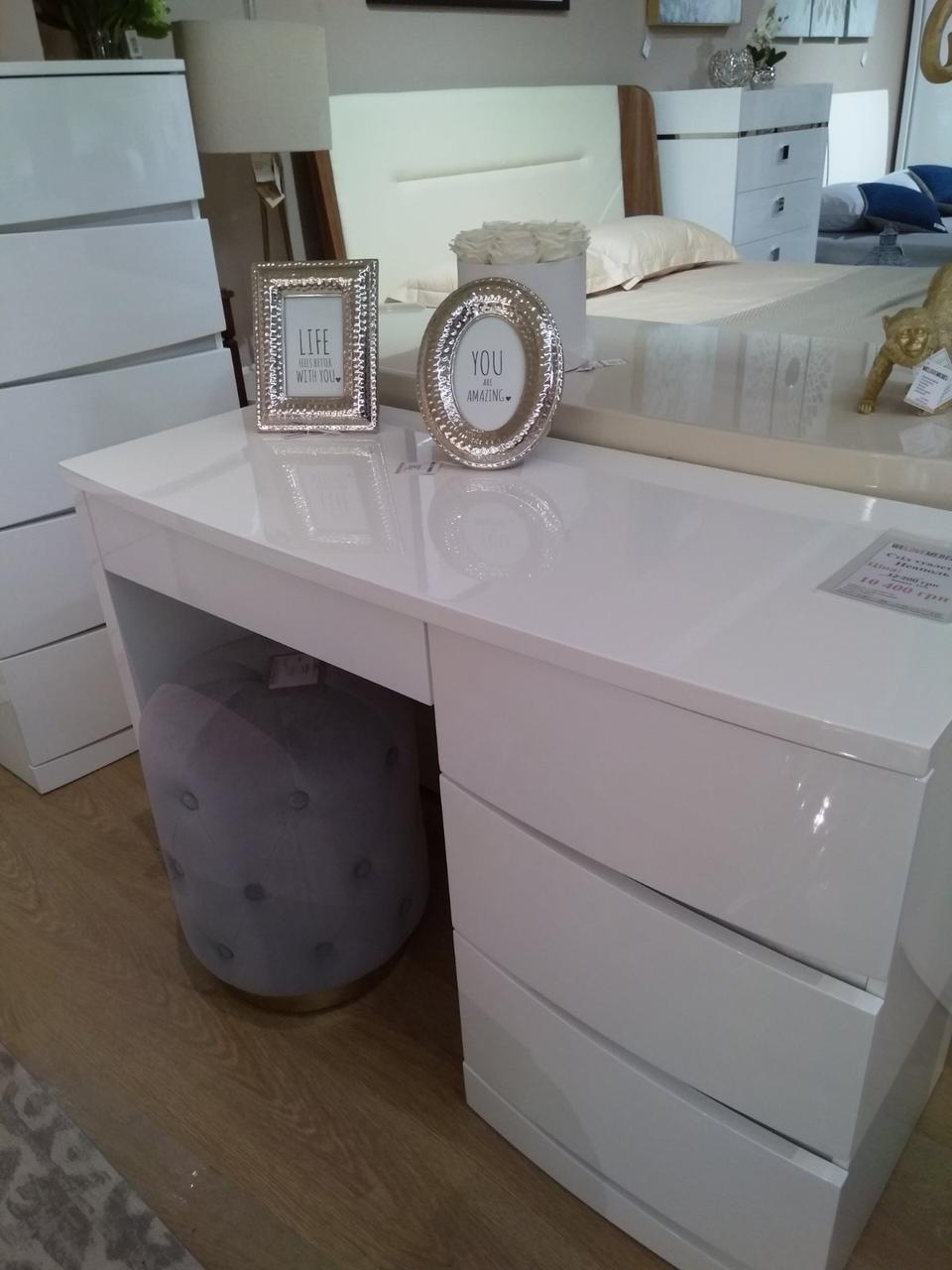 Стол туалетный Неаполь без зеркала, белый глянец от Frisco