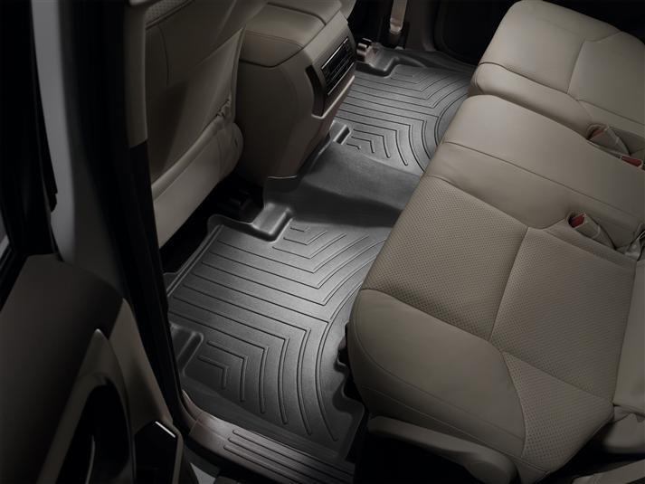 Ковры резиновые WeatherTech Lexus GX 2009+ задние черные