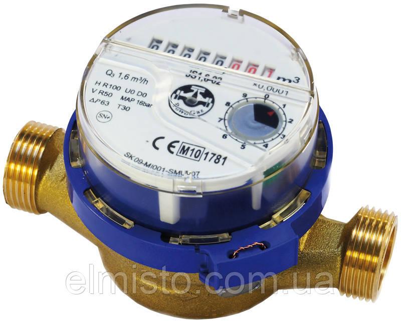 """Водосчетчик JS 1,6-02 ХВ SMART+ ДУ-15 1/2""""  Apator POWOGAZ одноструйный крыльчатый на холодную воду"""