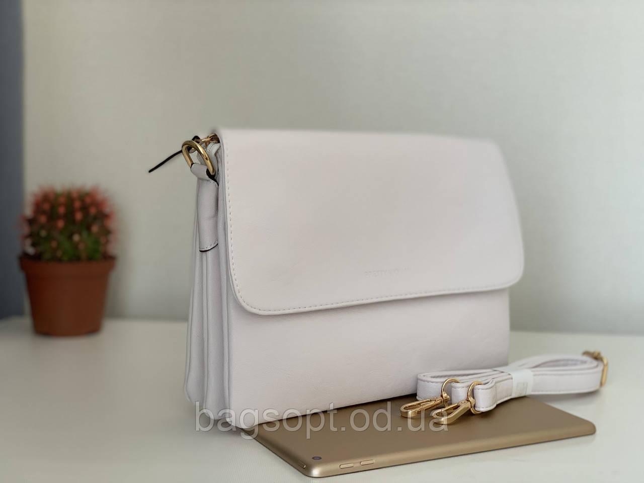Белая женская сумочка клатч-конверт через плечо Pretty Woman Одесса 7 км