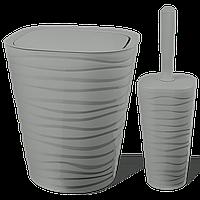 Набір для ванної кімнати Planet Welle 2 предмета сірий