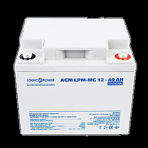 Мультигелевый аккумулятор LogicPower  AGM LPM-MG 12 - 40 AH (12 Вольт, 40 Ач)., фото 2