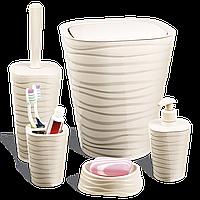 Набір для ванної кімнати Planet Welle 5 предметів кремовий